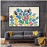 Henri Matisse La Gerbe coloré fleur jardin affiche toile Art Print mur photos pour salon impression sur toile-60x90 cm sans cadre