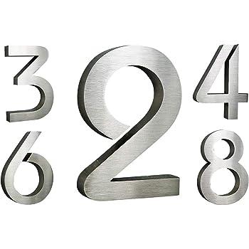 Número de casa acero inoxidable ITC Bauhaus diseño