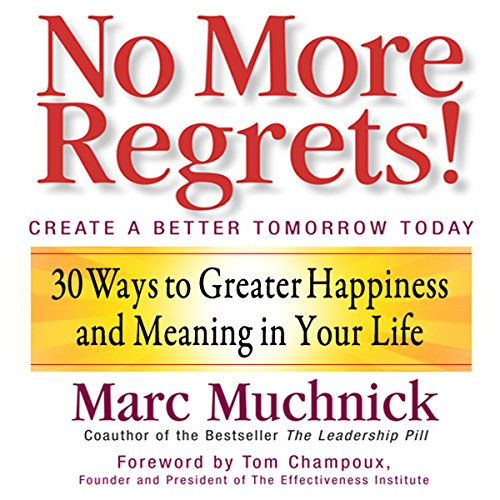 No More Regrets audiobook cover art