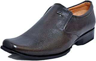 Zoom Mens Genuine Leather Formal Shoes D-11-Brown Shoes Online