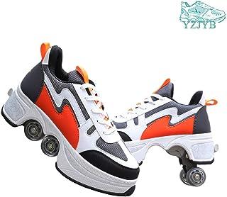 YZJYB - Zapatillas de deporte con ruedas de verano 2 en 1 Quad Patines con ruedas para deformación multifuncional, zapatillas de monopatín para deportes al aire libre, adultos y niños