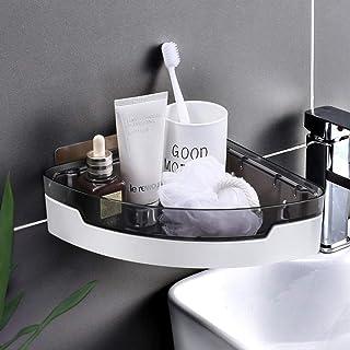Serviteurs de Douche Étagère Organisateur- Salle De Bain Rangement Mural Montage De Salle De Bain Toilette Coin Rack Cuisi...