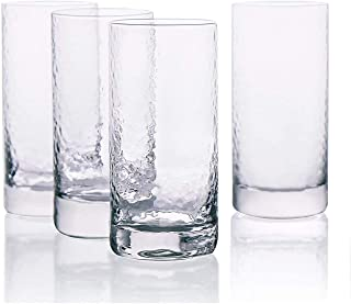 TimiCare Highball Glasses 10oz 300ml Heavy Base Lead-Free Drinking Glasses for Cocktails, mixed drinks, Juice, Water and I...