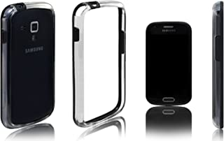 Xcessor Rubber and Plastic Classic Bumper Case for Samsung Galaxy S Duos s7562/Trend s7560 - Black/Transparent