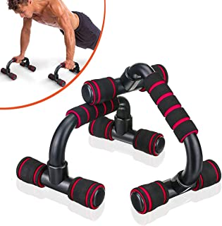 SGODDE Push Up Bars Pushup Handle with Cushioned Foam Grip and Non-Slip Sturdy Structure Portable Push Up Handles for Floo...