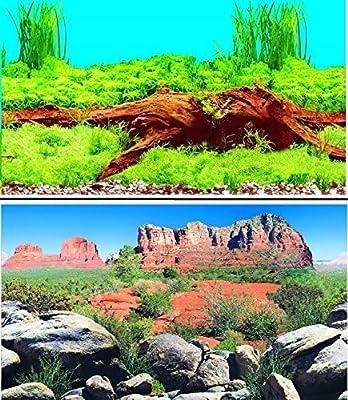 "31"" Double Sided Aquarium Background Backdrop Fish Tank Reptile Vivarium Marine from Hidom"