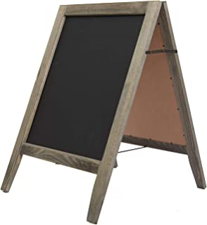 VERGOODR Rustic Vintaged Wooden Freestanding A-Frame Double-Sided Chalkboard Sign/Sturdy Sidewalk Sign Sandwich Board/Outdoor A Frame Chalk Board for Weddings & More!