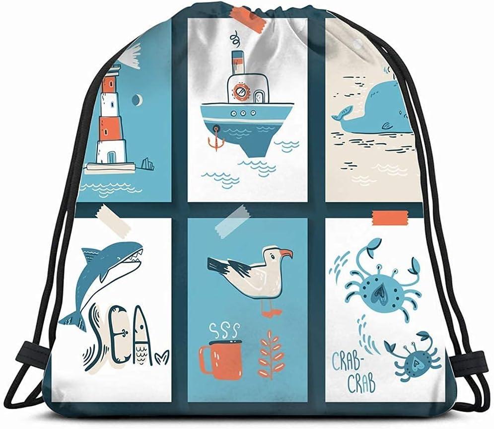 doodle 55% OFF Credence north sea scandinavian nature wildlife Drawstring animals