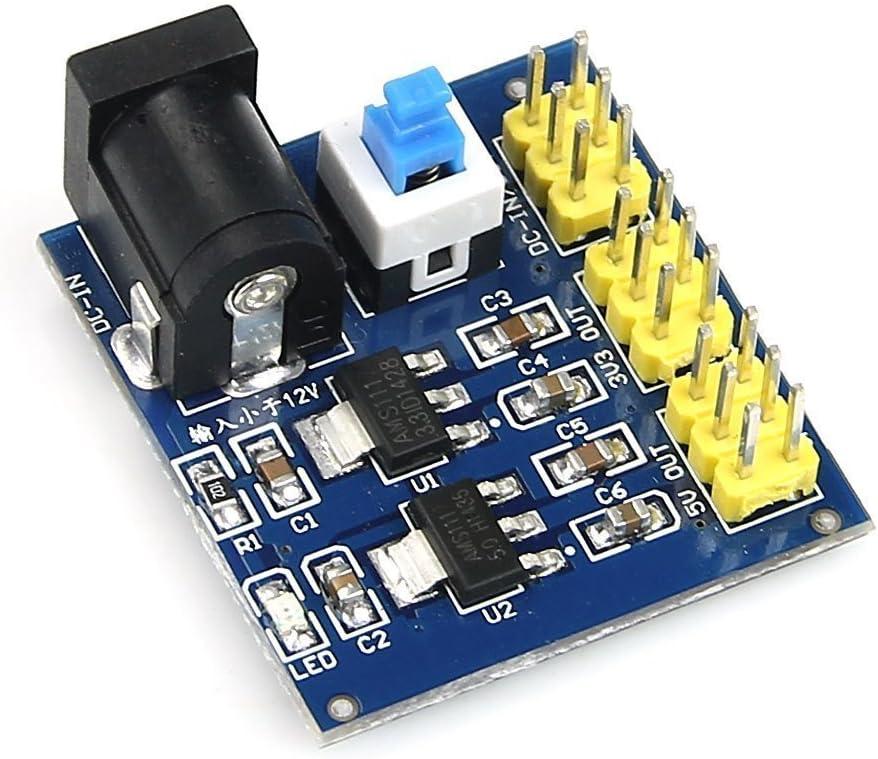 DollaTek DC-DC 12V to 3.3V/5V/12V Power Module Multi Output Voltage Conversion Module