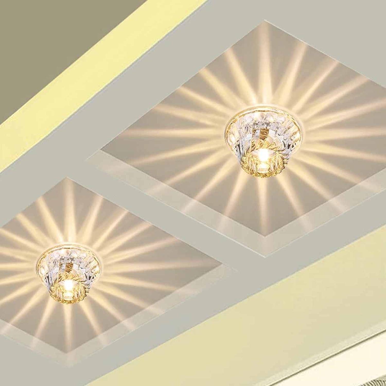 Deckenleuchte Flur Küche Kristall LED Küchenlampen Wohnzimmerlampe Lampe Für Kinderzimmer Badezimmer Treppenhaus Korridor Deckenlampe Deckenstrahler Wandleuchte Warmwei 3W