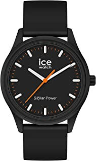 Ice-Watch - Ice Solar Power Rock - Montre Noire Mixte avec Bracelet en Silicone - 017764 (Medium)