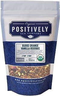 Positively Tea Company, Organic Blood Orange Vanilla Rooibos Tea, Loose Leaf, 4 Ounce Bag