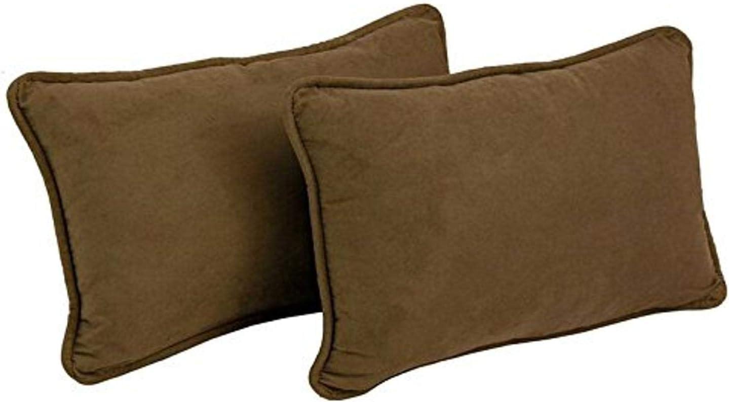 Blazing Needles 大人気 Corded Solid Throw Pillow 超人気 Rectangular Microsuede