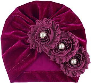 Greetuny Baby Newborn Hat Gold Velvet Cotton Cute Sunflower Hospital Hat Soft Baby Bath Turban Hats Baptism Gifts