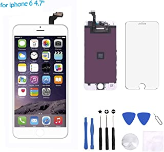 Cisco MicroelectronicFor iPhone 6 Screen Replacement - LCD Display Touch Screen Digitizer Frame Assembly Full Set with Free Tools for iPhone6 4.7 inch(White)