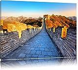 Große chinesische Mauer bei Sonnenaufgang Format: 80x60