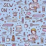 Lillestoff Bio Baumwollstoff Sew On Nähmaschine