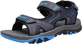 OULSON Men Fashion Sandals Summer Leisure Comfort Outdoor Walking Beach Sandals Velcro Sport Sandals For Men Size 39-45