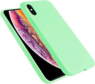GOOSPERY Style Lux Jelly for Apple iPhone Xs Max Case (2018) Thin Slim Bumper Cover (Mint Green) IPXSP-STYL-MNT