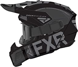 FXR Clutch Snow Helmet w/Cold-Stop QRS Black LG