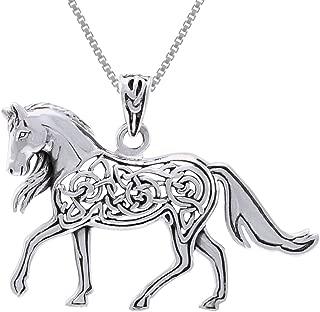 celtic horse pendant