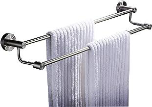 Brushed Nickel Double Towel Bar Large Bathroom Towel Rack SUS304 Stainless Steel Modern Style Bathroom Hardware Bathroom A...