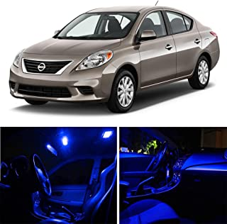 SCITOO 9Pcs Blue Package Kit Accessories Replacement Fits for Nissan Versa 2012-2016 LED Bulb LED Interior Lights