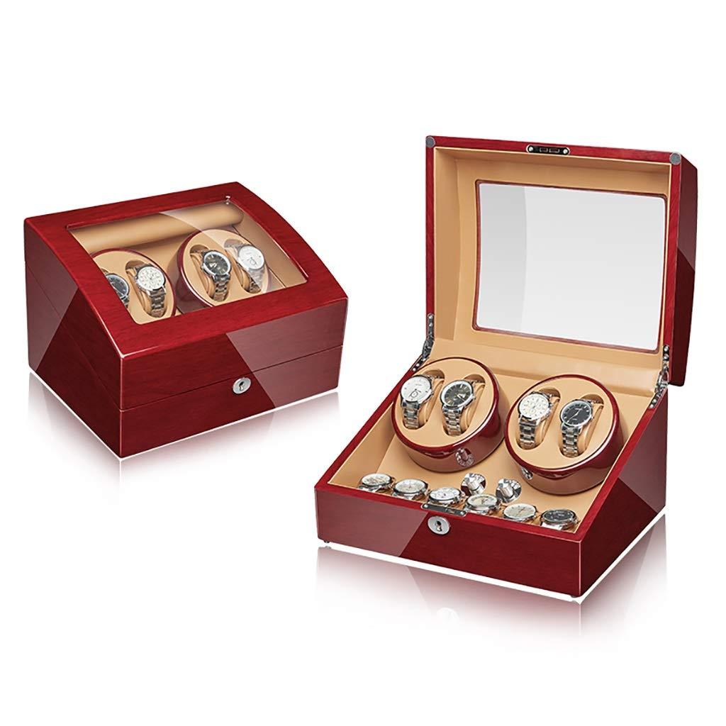 Cajas giratorias 4 + 6 Automático Watch Winder Box Luxury Wooden para 4 relojes de pulsera + 6 estuches de almacenamiento, 5 modos de rotación y motor silencioso, adecuado para regalos de muñecas para: Amazon.es: Hogar