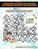 Dinosaurs Coloring For Children: Nodosaurus, Spinosaurus, Tyrannosaurusrex, Stygimoloch, Dinosaur, Stegosaurus, Footprints, Mosasaurus For Kid Ages ... Words Activity And Coloring Book 30 Coloring