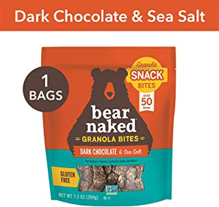 Bear Naked Dark Chocolate Sea Salt Granola Bites - Gluten Free, Non-GMO, Kosher, Vegan - 7.2 Oz
