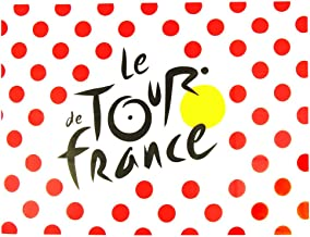 Le Tour de France–Producto oficial de Tour de Francia bandera de porcelana lunares 55,1x 39,4en–Color: blanco, rojo