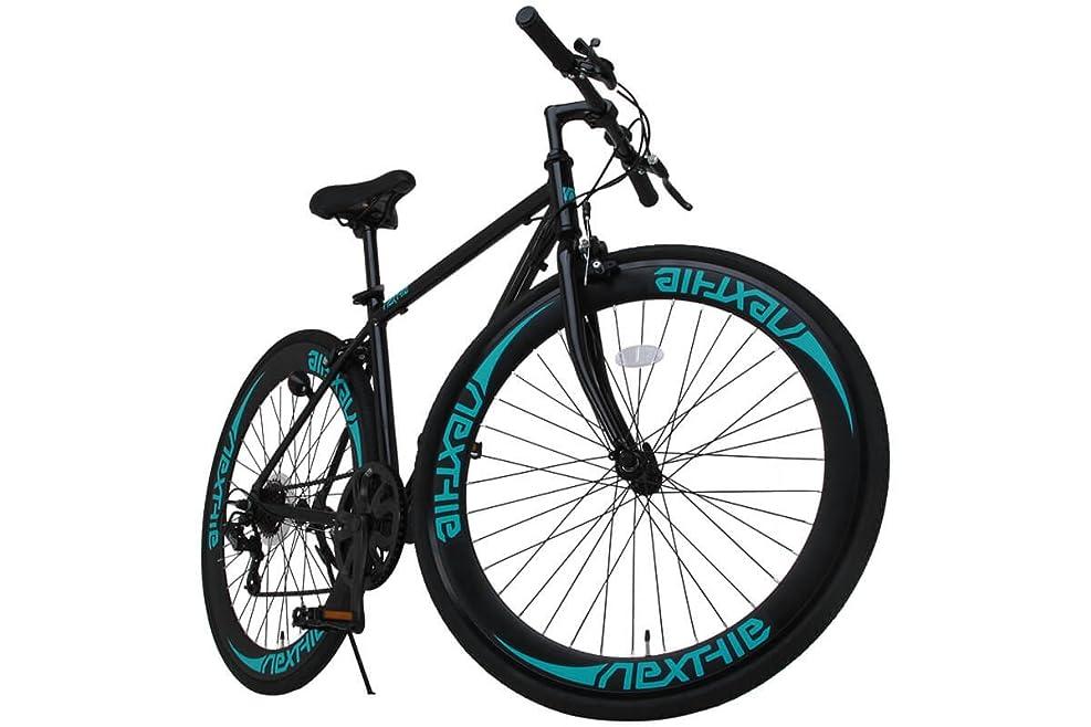 協会マンハッタンデジタルNEXTYLE(ネクスタイル)700Cクロスバイク アルミフレーム シマノ7段変速 ディープリム 前輪クリックリリースNEXTYLE CNX-7006