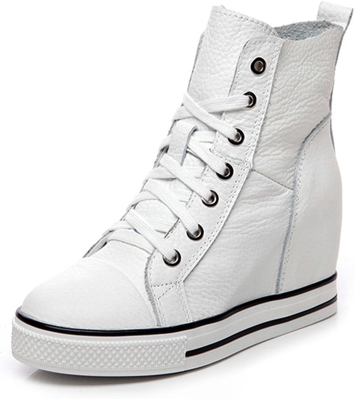 Btrada mode skor med Wedge Lace Lace Lace Up hög klack Caesal skor för kvinnor  vara i stor efterfrågan