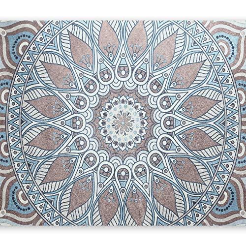 murando Fototapete Mandala 150x105 cm Vlies Tapeten Wandtapete XXL Moderne Wanddeko Design Wand Dekoration Wohnzimmer Schlafzimmer Büro Flur Orient Ornament f-A-0670-a-a