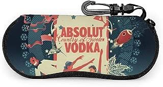 Sunglasses Soft Case Absolut Vodka Ultra Light Neoprene Zipper Eyeglass Case With Belt Clip