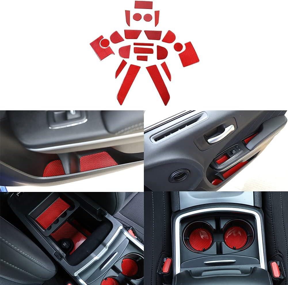 Fscar Red Soldering Carbon Fiber Car Interior Mat Max 67% OFF Door Decoration Tr Cover