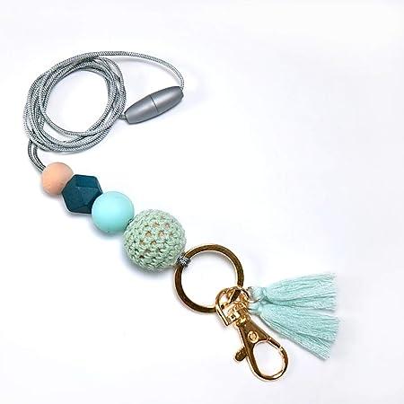 ID Badge holder,Colorful Handmade Accessory Beaded lanyard Key lanyard Handmade Accessory Teacher lanyard Necklace lanyard Lanyard