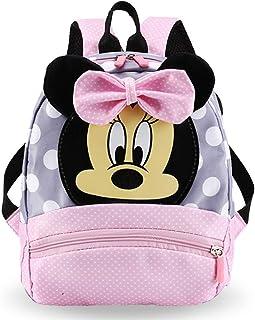 Mochilas Escolares - WENTS Material Escolar para Niñas Mochila Infantil con Minnie Mouse en Diseño 3D Mochila Rosa de Gran...