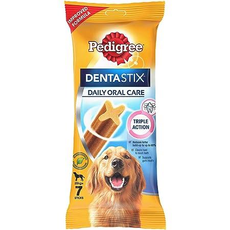 Pedigree Dentastix Large Breed (25 kg+) Oral Care Dog Treat, 270g Weekly Pack (7 Chew Sticks)