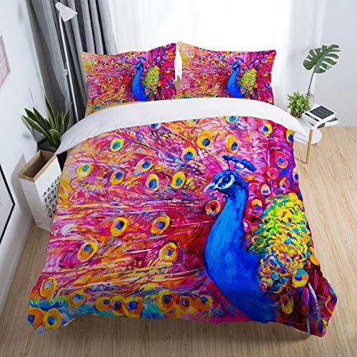 Bedclothes-Blanket Funda nórdica Funda de Colcha,Conjunto de Tres Piezas 3D de Conjunto de Estrella vacía-9_135x200cm