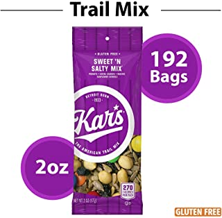 Kar's Nuts Sweet 'N Salty Trail Mix Snacks - 8 Bulk Boxes of 24-2 oz Individual Single Serve Bags (Pack of 192)