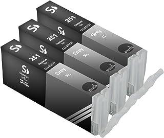 Sherman Inks and Toner Cartridges 3 Pack Compatible PGI-250, CLI-251 3 Gray Ink Cartridge Replacement for Inkjet Printers:...