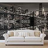 Skyline de la ciudad de Nueva York Puente de Brooklyn -...