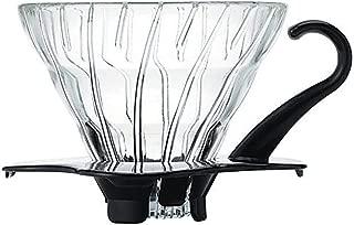 Hario V60 Glass Coffee Dripper, Size 01, Black