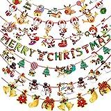 SUNSK Guirnaldas Navidad Banderas Bunting Pancartas Triángulo Decoración Navidad Bandera Papá Noel Árbol de Navidad Banner Fiesta de Navidad