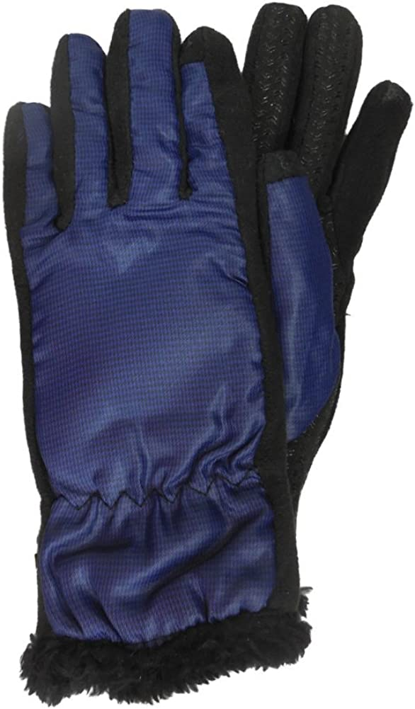 Isotoner Smart Touch Women Blue Micro-Check Tech Text Glove Smartouch