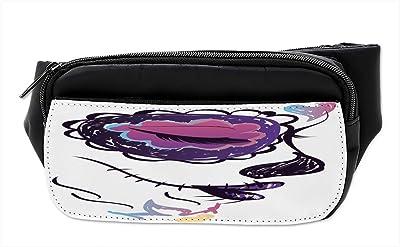 Mexican Sugar Skull Rose Sport Waist Packs Fanny Pack Adjustable For Run