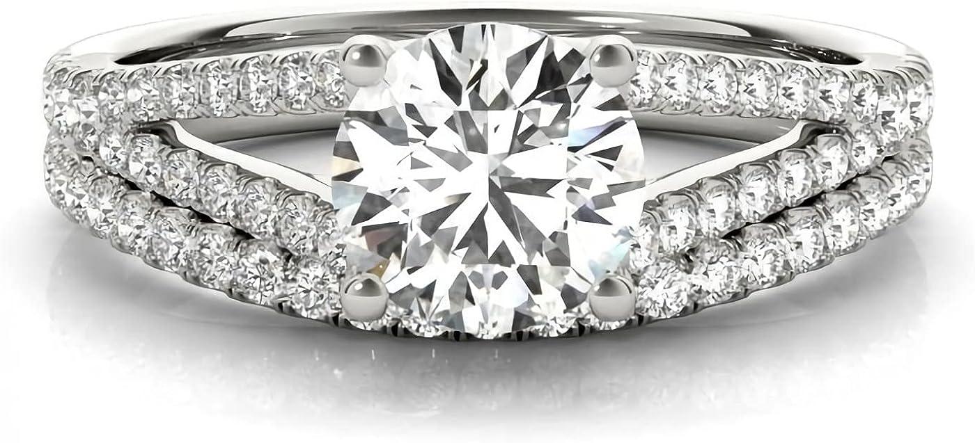 Bridal Set Moissanite Over 40% OFF Cheap Sale item handling ☆ Engagement Rings 10K 14K for Gold Ring 18K