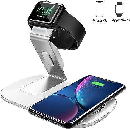 Seneo Fast Wireless Charger, 2 in 1 Wireless ladestation für iPhone & iwatch, qi ladestation iWatch Ladestation (ohne iWatch Adapter) für iWatch, 7,5W iPhone ladestation für iPhoneXS Max/XR/X/8/8p