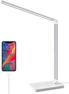 Sponsored Ad - LED Desk Lamp with USB Charging Port, Dimmable Table Lamps with 5 Lighting Modes & 3 Brightness Levels,Memo...